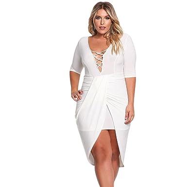La vestimenta femenina con cuello en V Half-Sleeve plisada falda ...