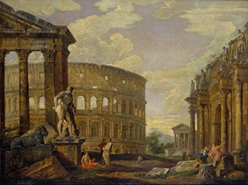 Giovanni Paolo Panini Rome Giclee Canvas Print Paintings Poster Reproduction