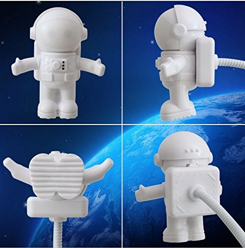 Ocamo LED Flexible Light Creative USB Light Spaceman Astronaut for Laptop PC Notebook