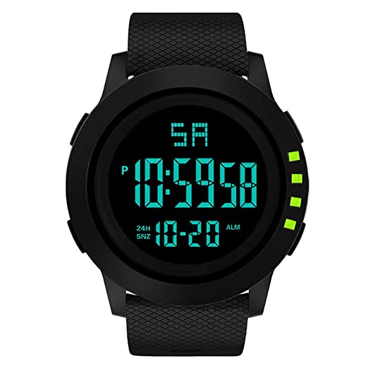 ... Watches 5ATM Waterproof Outdoor Watch on Military Quartz Watchs with Rubber Silicone Strap Stainless Steel Case Relojes De Hombre: Sports & Outdoors