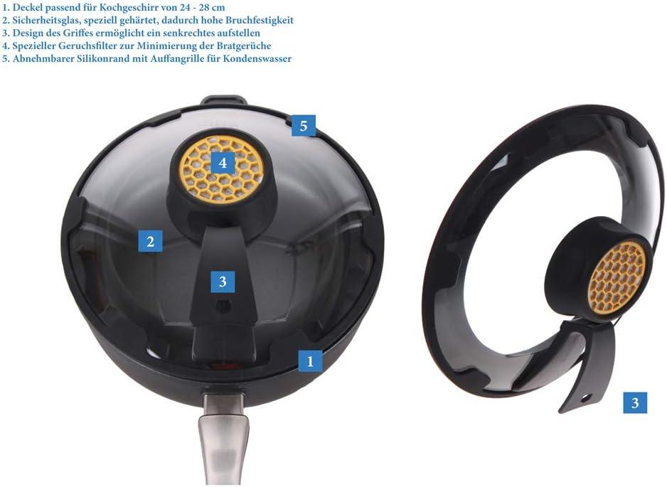 /Couvercle et Protection Anti-/éclaboussures avec Filtre Anti-odeurs Harecker fritaclean/