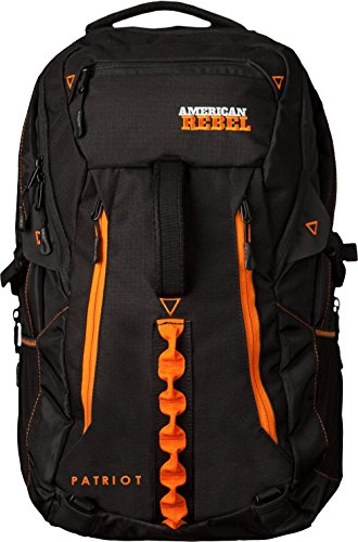 Concealed Backpack Holster for Men and Women, American Rebel X-Large Freedom Concealed Carry Backpack - Black/Orange