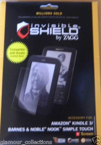 ZAGG - InvisibleSHIELD for Kindle 3 and NOOK Simple Touch Reader SCREEN protector