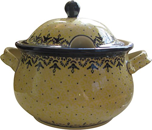 (Polish Pottery Soup Tureen 3L Dutch Oven Eva's Collection)