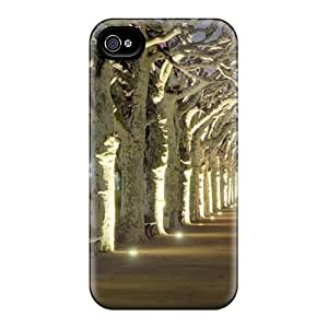 New Premium Flip Case Cover Striking Pathway Skin Case For Iphone 4/4s
