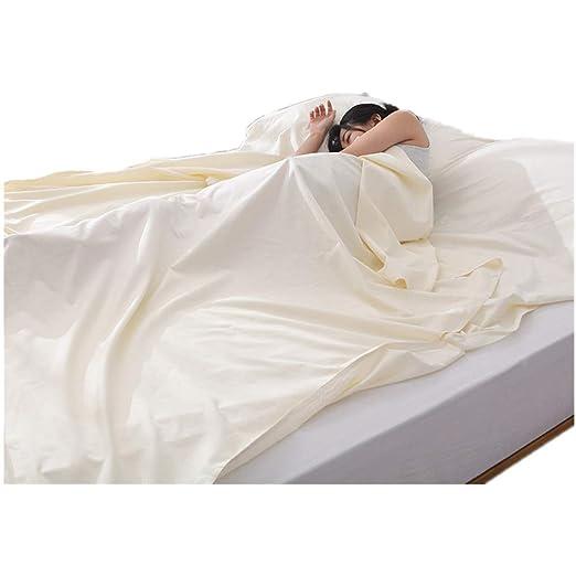 Saco de dormir doble de puro algodón, hotel de color sólido ...