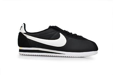 best service e0f5a 08603 Nike Classic Cortez Nylon, Chaussures de Running Homme, (Noir Blanc),