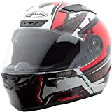 GMAX FF88 X-Star Mens Full Face Street Motorcycle Helmet - White/Red Large