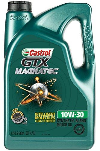 Castrol 03072 GTX MAGNATEC 10W-30 Motor Oil, 5 Quart, 3 Pack 15 Quart Oil Drain
