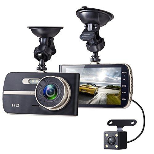 Sebikam Full HD 1080p Front Rear Car Dashboard Camera ONLY $48.44 (Was $150)