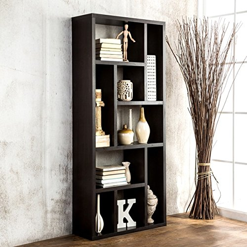 Living Room Furniture/ Sofa Tables & Bookcase Espresso Multi-Purpose 3-in-1 Display Cabinet/ TV Stand/ Bookcase - Assembly Required ID-11399. 71 in Wide x 31 in High x 11 in Deep