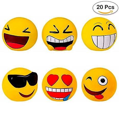 Lote de 20 Huchas Emoticonos - Huchas para Niños, Infantiles, Juveniles, Detalles y Recuerdos Comuniones, Bodas, Cumpleaños, Comunión, Comunion, ...