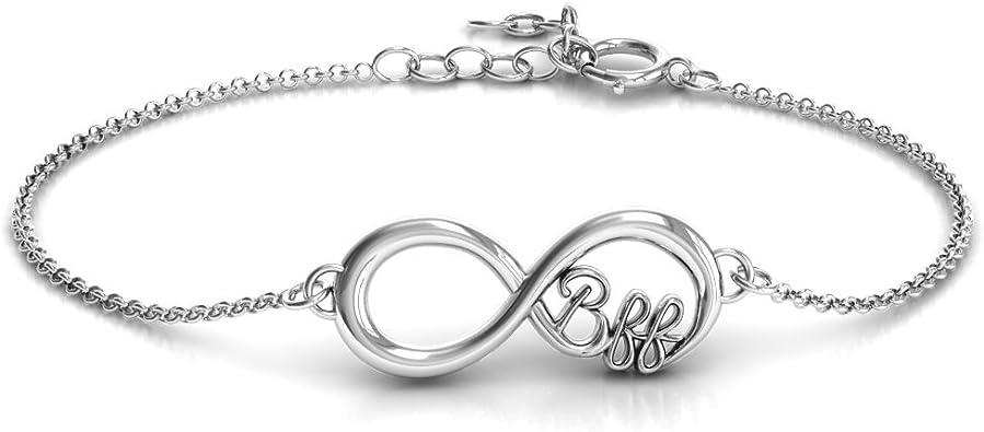 Amazon.com: Sterling Silver Infinity BFF Friendship Bracelet by JEWLR:  Jewelry