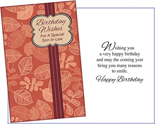 Prime Greetings Happy Birthday Card For Son-In-Law