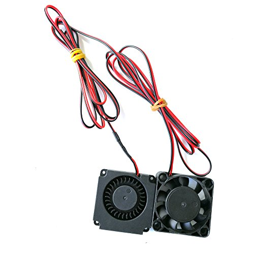 HICTOP 2pcs 12v 4010 Fan and 12v Circle Fan for CR-10, CR-10S,CR-10 S4,S5 by HICTOP