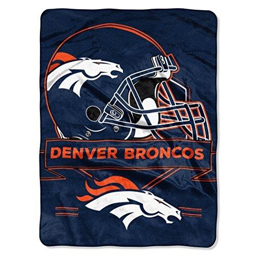 Northwest 0807 NFL Denver Broncos Prestige Plush Raschel Blanket, 60