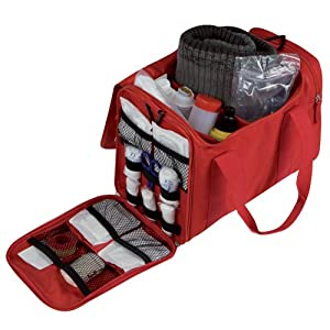 Elite Bags Compact Medical First Aid Bag Red With Multiple Pockets Unkitted