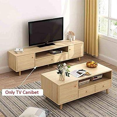SXFYZCY Mueble de TV Simple Moderno gabinete de TV de Madera Maciza gabinete de Piso gabinete de TV Armario Sala de Estar decoración del Dormitorio Muebles para el hogar Mueble de TV: