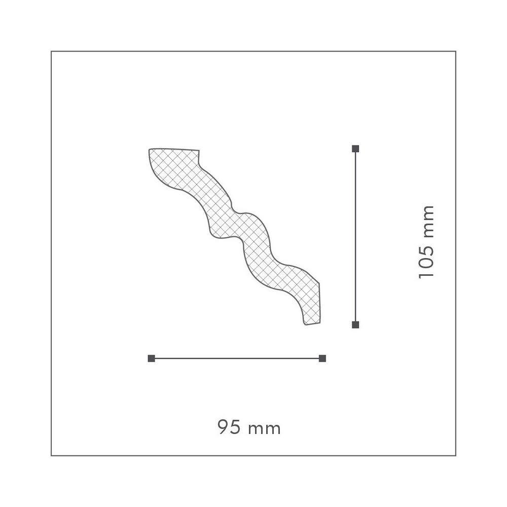 NMC Nomastyl Plus Moulure SM Polystyr/ène
