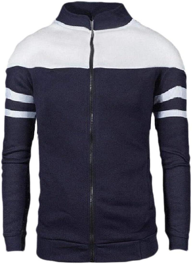 HEFASDM Mens Fashion Plus Size Coat Relaxed Fit Full-Zip Outwear Sweatshirts