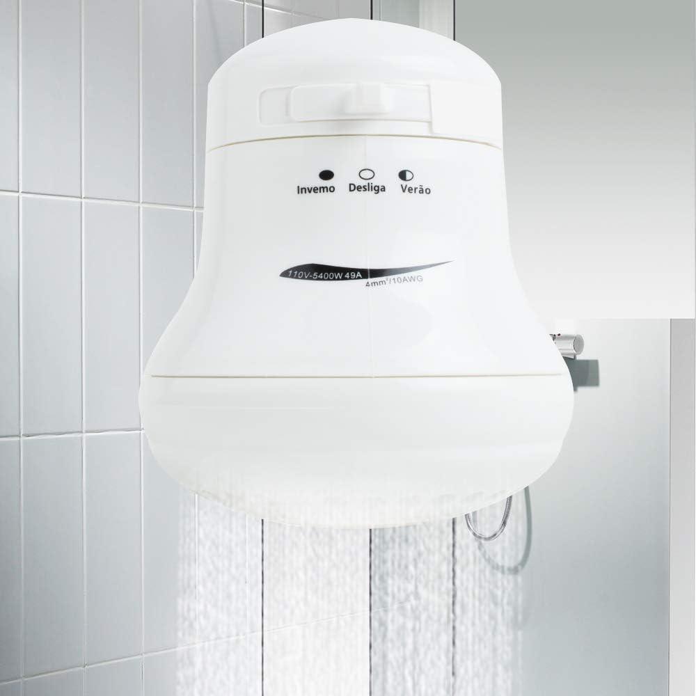 Electric Instant Hot Water Shower Head Heater Joykit 5400W 110V Electric Shower Head Instant Hot Water Heater Bath