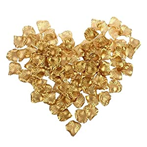 GreenDimension Silk Rose Petals Wedding Bridal Decorative Confetti Artificial Flower Petals (2000PCS , Gold) 23