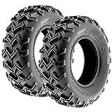 SunF A001 Off-Road ATV/UTV Tire 21x7-10, 6 PR, Directional Tread (Pair of 2)