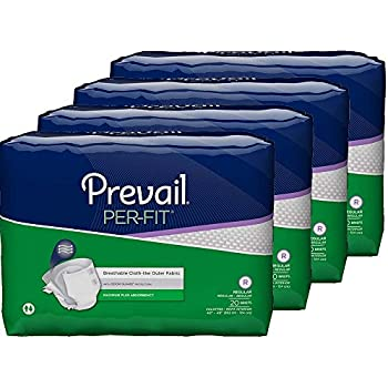 Prevail Per-Fit Maximum Absorbency Incontinence Briefs, Regular, 20-Count (Pack of 4)