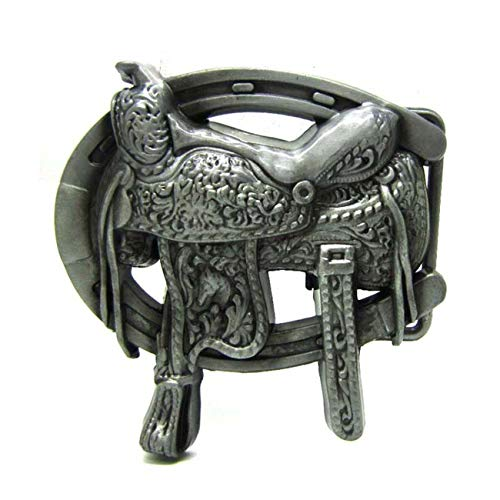 Western Rodeo Belt Buckle Saddle Horseshoe Belt Buckle for -