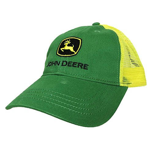 John Deere Big Boys' Trademark Trucker Ball Cap, Green/Green, Youth