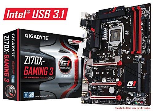 Gigabyte LGA1151 Intel Z170 ATX DDR4 Motherboards GA-Z170X-Gaming 3