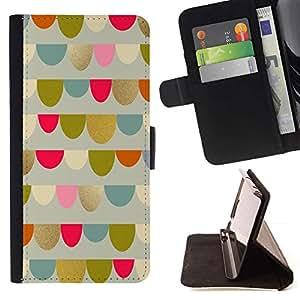 For Motorola Moto E ( 1st Generation ) Case , Anniversaire Bleu Motif Parti Pastel - la tarjeta de Crédito Slots PU Funda de cuero Monedero caso cubierta de piel