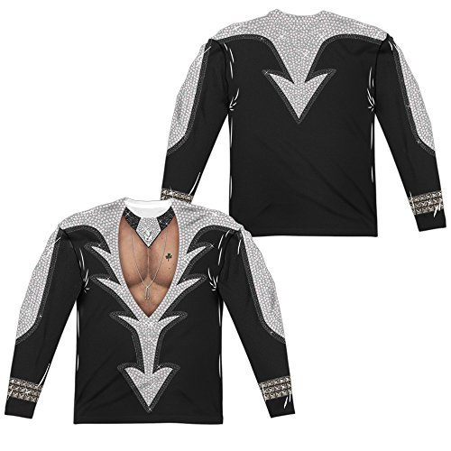 Kiss Catman Costume Unisex Adult Front Only Long-Sleeve Sublimated T Shirt for Men and Women