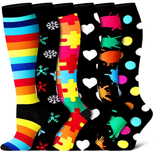 Compression Socks for Women and Men- Best for Running, Athletic Sports, Varicose Veins, Travel.