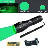 Ulako 200 Yards Green Light Coyote Hog Pig Varmint Predator Tactical Flashlight Single 1 Mode Torch for Camping Hunting For Sale