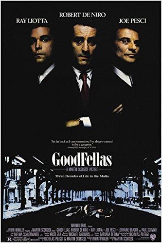 GOODFELLAS classic movie poster ITALIAN MAFIA murder corruption PRIZED 24X36 (reproduction, not an original)