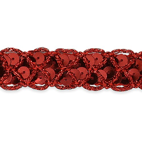 Expo International Christina Braided Sequin Trim Embellishment, 20-Yard, Black IR6999BK-20