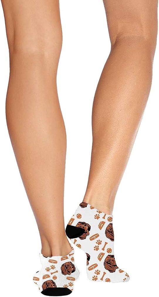 German Longhaired Pointer Dog Pattern #4 Men-Women Adult Ankle Socks