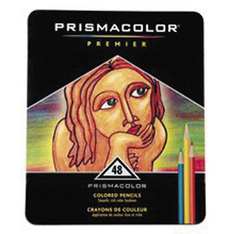 Better Crafts PRISMACOLOR 48CT COLOR PENCIL TIN SET (1 pack) (0BER9550) by Better crafts