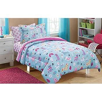 Amazon Com Mainstays Kids Puppy Love Children S Girls Bed