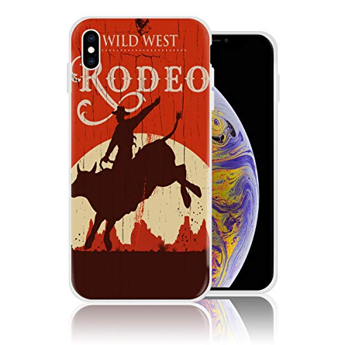 (Silicone Case for iPhone 7 and iPhone 8 Personalized Design Printed Phone Case Shockproof Full Body Protection Anti-Scratch Drop Protection Cover - Wild West Rodeo Cowboy)