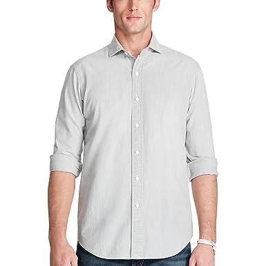 7214ee1f1 Ralph Lauren Polo Men s Slim Chambray Shirt (XS) at Amazon Men s ...