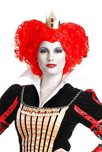 Charades Red Queen Costume Wig, One -