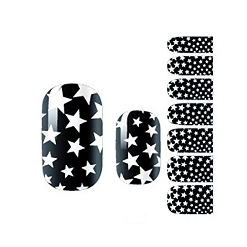 Opi Soak - 7pcs Colorful Waterproof Cute Nail Decal Peelable Nail Stickers Nail Tools Black