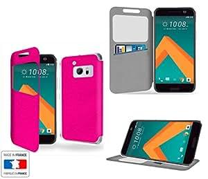 HTC 10 Funda CON VENTANA, TAPA, APERTURA LIBRO, CIERRE CON IMAN Y SOPORTE Rose Bonbon Collection Exception - tipo cartera - Accesorios Case Industry Protector