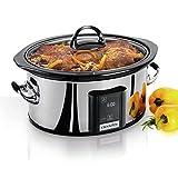 Crock-pot Countdown Touchscreen Digital 6.5 Qt. Slow Cooker 16lbs Stainless Steel Finish 9'' H x 15'' W x 14.1'' D Maximum Timer Setting: 1200 Minutes*