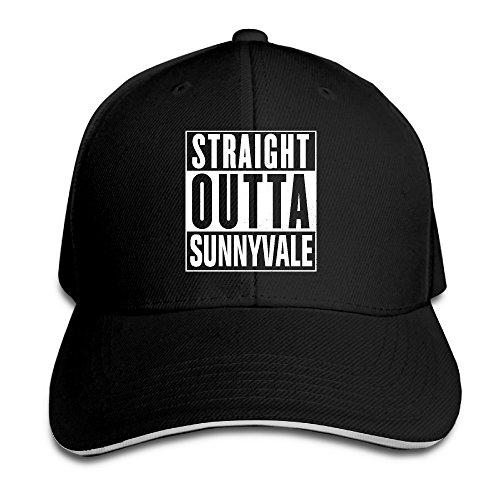 Doris Trailer Park Boys Straight Outta Sunnyvale UV Protect Sandwich Hat Black (Trailer Park Boys Hat)