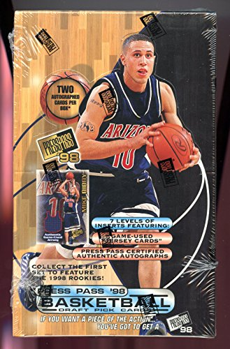 1998-99 Press Pass '98 Basketball Card Set Wax Pack Box 98 1999 HOBBY 2 AUTO