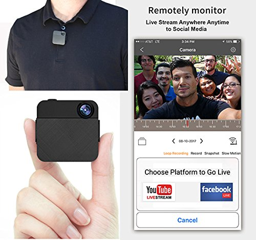 WOLFCOM Capture Wearable Body Camera. Record to SD card or Stream Live Video to Facebook or YouTube