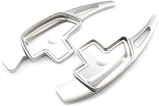Dequate 2 Pcs Dsg Schaltwippen Für Mercedes Benz Shift Paddles Aluminiumlegierung Dsg Schaltwippen Verlängerung Silber Auto